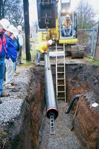 Non-Restrained Joint Ductile Iron Pipe in Entry Pit