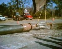Bursting Head attached to new pipe.