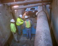Grundoburst Static Pipe Bursting Tool in Entry Pit.