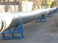 2100 feet of pipeline was renewed using Swaglining.