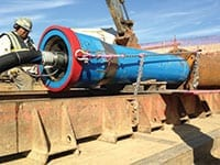 Neptune Coring used a combination of two trenchless techniques, guided boring, or pilot tube, and pipe ramming. The pilot tube is extremely accurate and once in place, the pipe ramming follows the path created by the pilot tube.