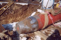 The US Pipeline crew used two 18-inch diameter Grundoram Goliath tools from TT Technologies for the installation of the bore pipe.