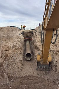 Pumpco pipe in pit