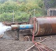 LTL - Grundoram Taurus Pipe Ramming Machine in Action.