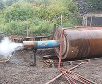 LTL - Grundoram Taurus Pipe Ramming Machine in Action.