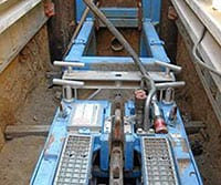 Grundoburst Static Pipe Bursting Equipment in Place