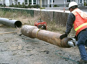 "Feature image for ""Eureka! California Town Discovers Trenchless Pipe Bursting"" article."